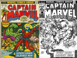 Captain Marvel #25 - Mike Collins - One Minute Later Comic Art
